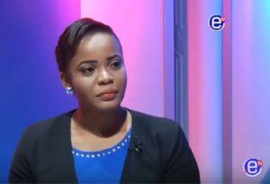 Mimi Mefo Takambou, Chef Service Information et présentatrice vedette en langue anglaise à la chaine de télévision privée , Equinoxe Tv et Radio