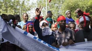 manifestation anti-occupation au Mali