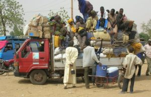 Migrants en partance pour un site d'orpaillage. Issa Aboud Yonlihinza